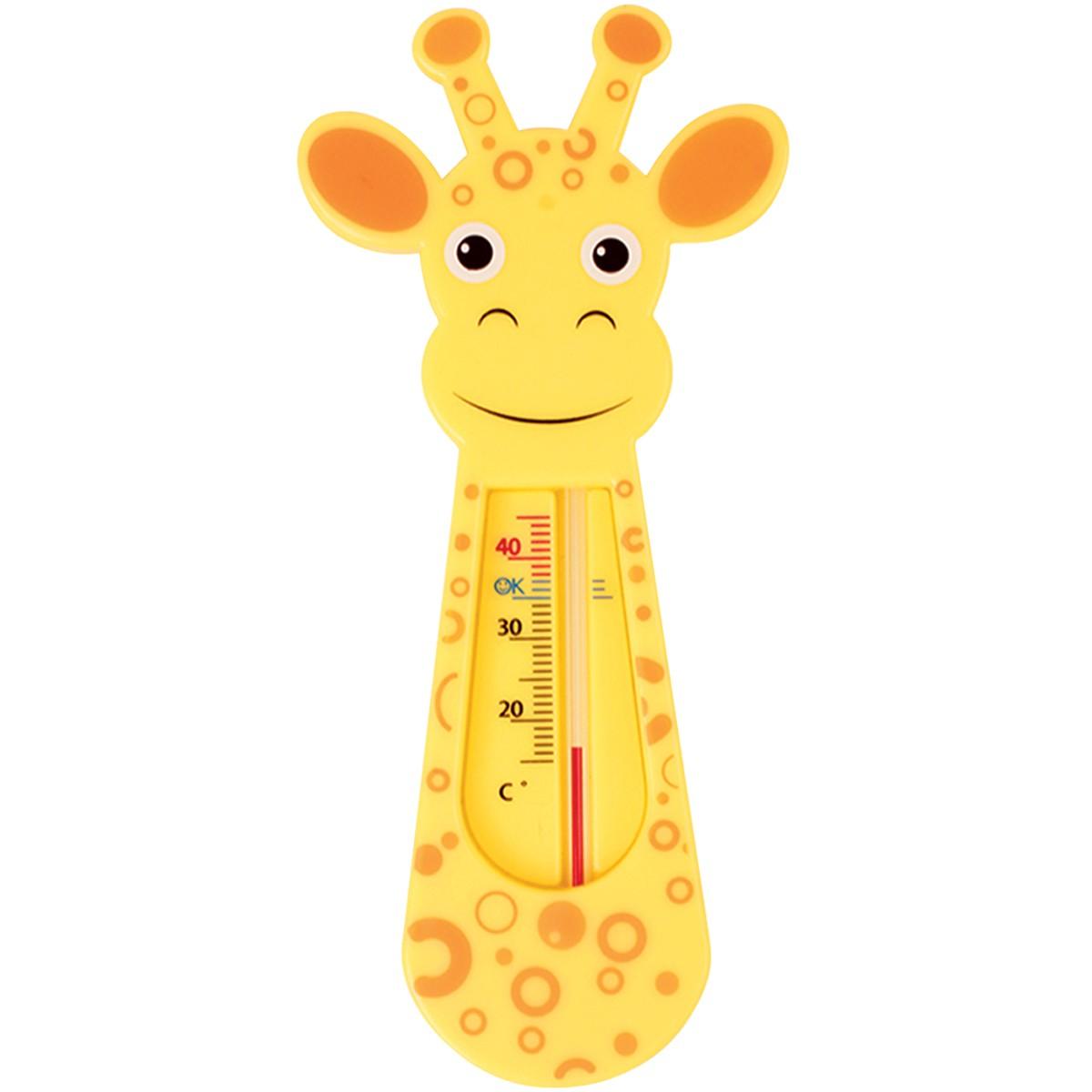 Termômetro De Banho Girafinha Laranja Buba