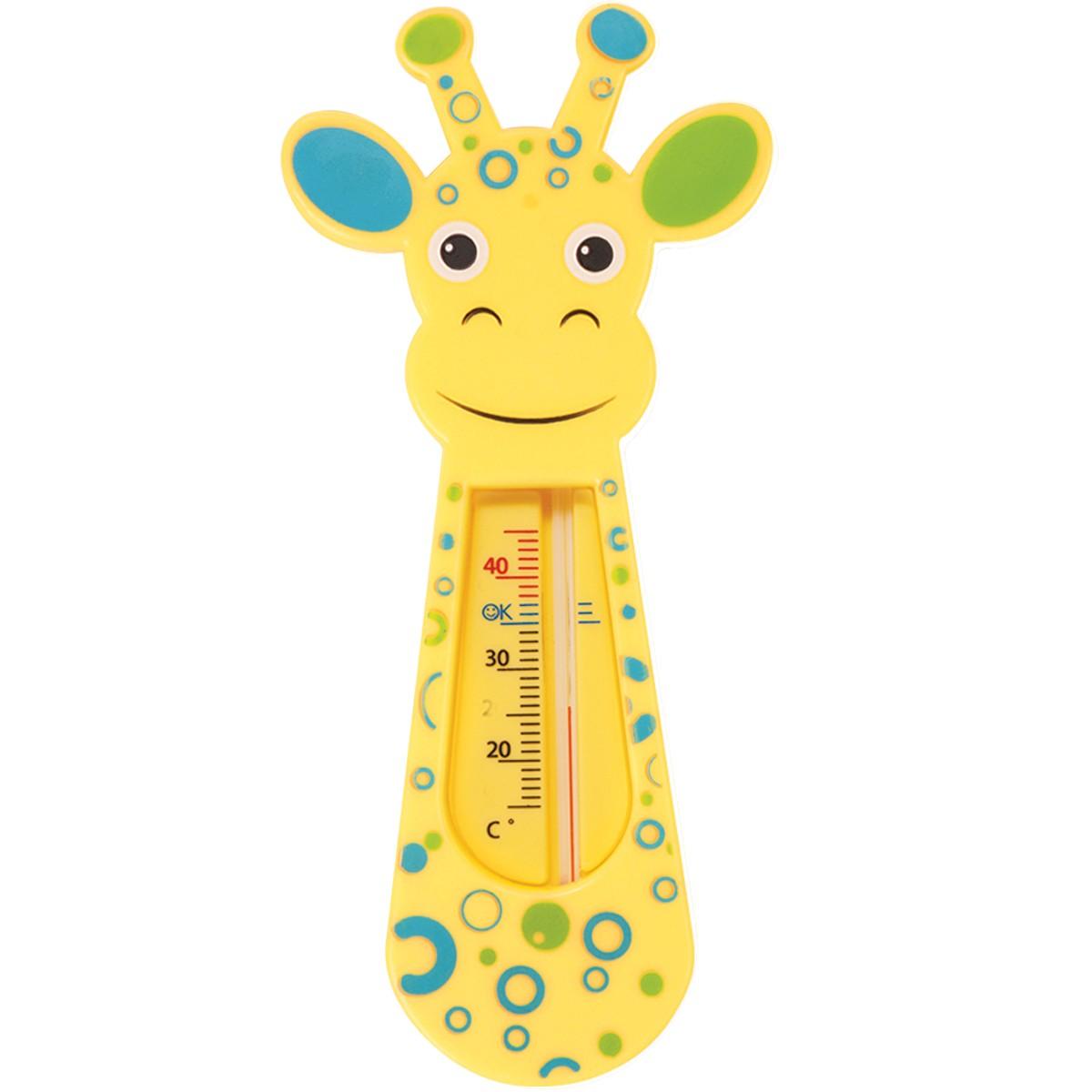 Termômetro De Banho Girafinha Verde e Azul Buba