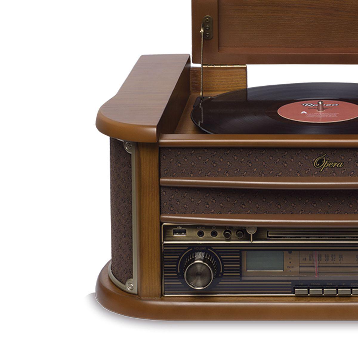 Vitrola Raveo Opera BT com Toca Discos, O mais Vintage da categoria.