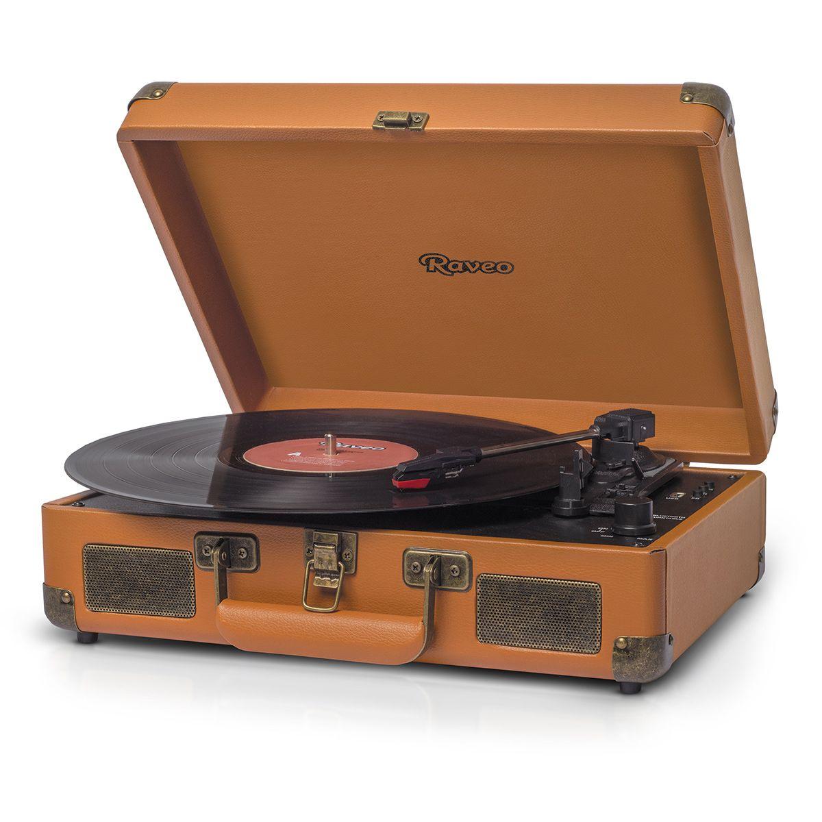 Vitrola Raveo Sonetto Caramelo c/ Toca Disco, bluetooth, USB Rec Selo Anatel