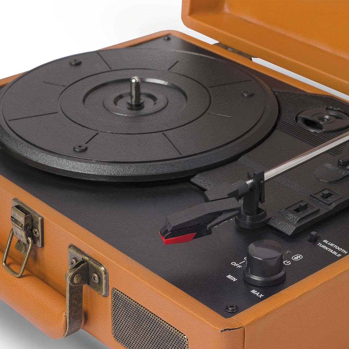 Vitrola Raveo Sonetto Caramelo - Toca Discos, BT E USB