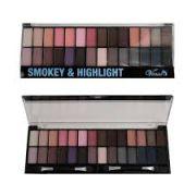 Paleta De Sombra Smokey Highlight 28 Cores Venas Lançamento