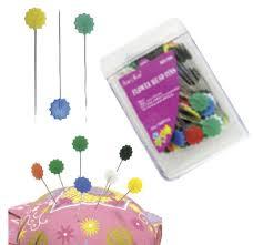 Alfinete coloridos  cabeca flor