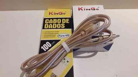 Cabo de Dados Corda para iPhone 5/6s Linha Premium - Kingo