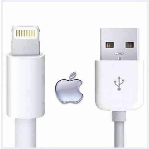Cabo de Dados Usb Para Iphone 5/5s/ Apple Branco