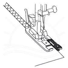 Calcador ponto tipo overlock