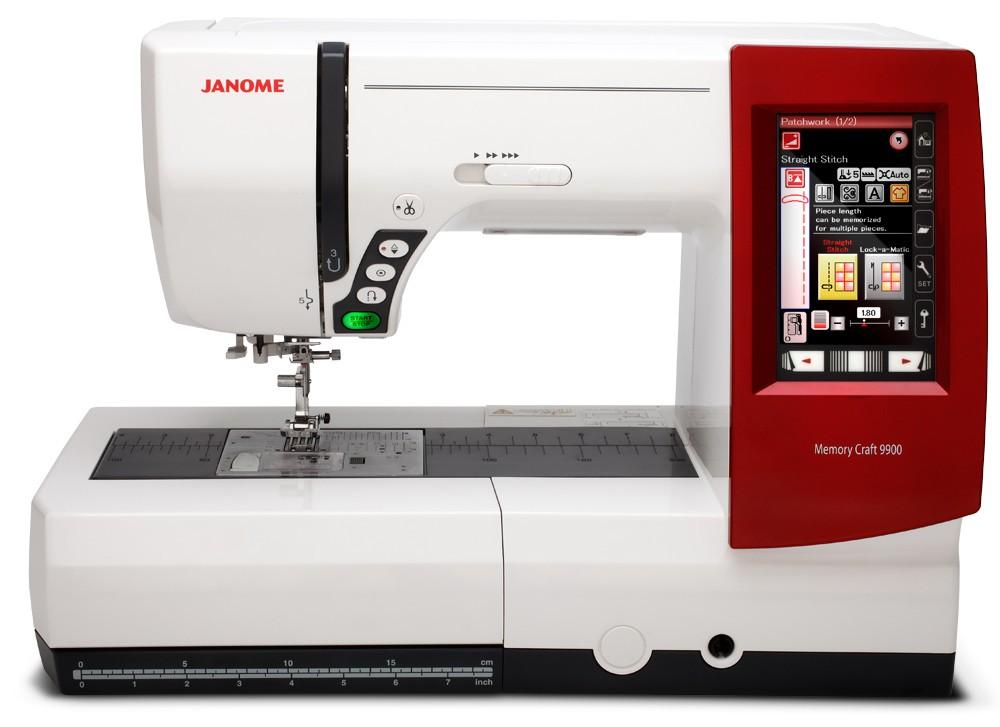 Máquina de Costura e Borda 9900 2 em 1  Janome