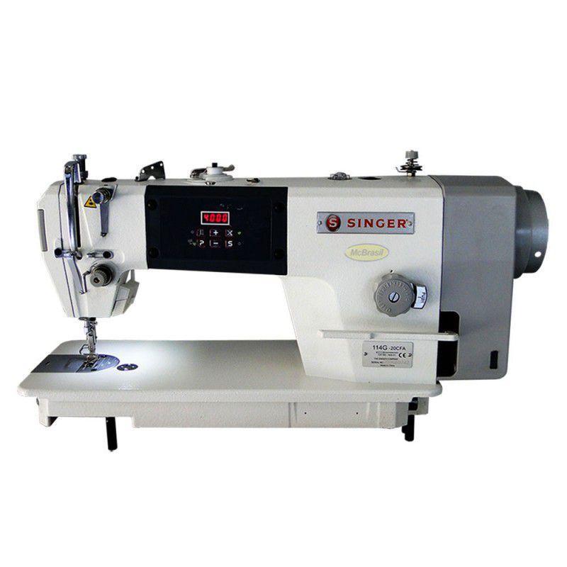 Maquina de Costura Industrial Reta Singer 114g c/ Corte de Linhan Integrado