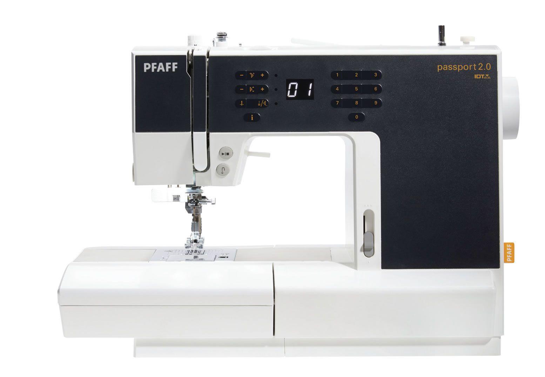 Máquina de costura  Passport 2.0 com Pfaff  mesa extensora
