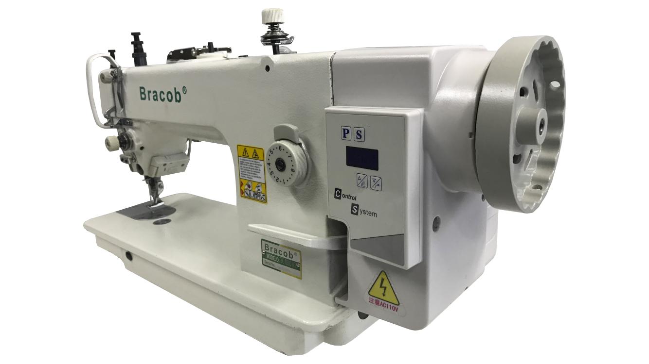 Maquina Industrial de Cotura Reta Transporte Duplo Eletrônica Bracob 0302