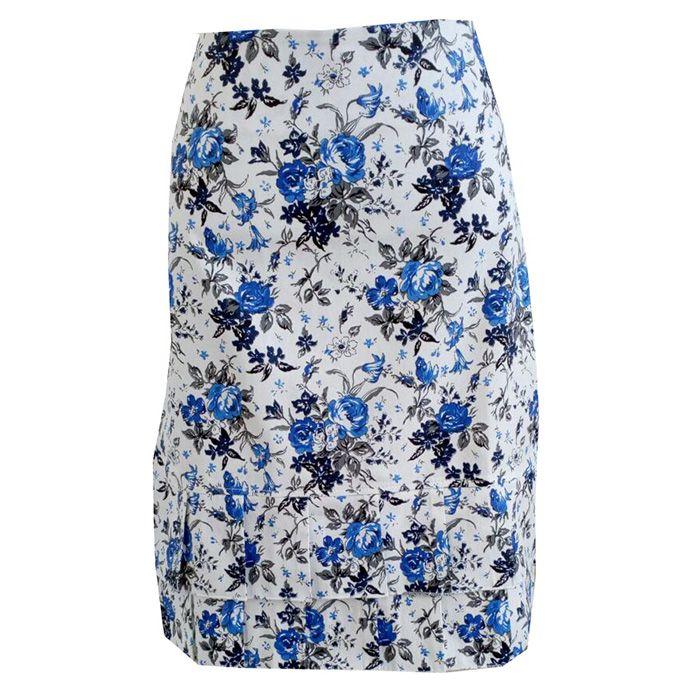 348a179f13 ... Saia Floral Azul Nice - DM Veste - Moda Evangélica e Executiva