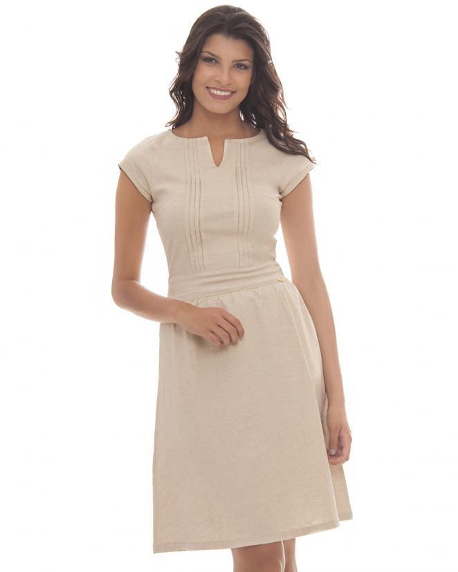 f2841efdf082 Vestido de Linho Kabene - DM Veste - Moda Evangélica e Executiva