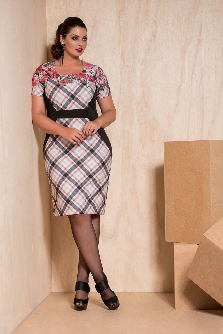 f76062ab1 Vestido Tubinho com Centro em Xadrez Cassia Segeti Moda ...