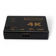 SWITCH HDMI 4K 3 ENTRADAS E 1 SAÍDA COM CONTROLE - BRIWAX