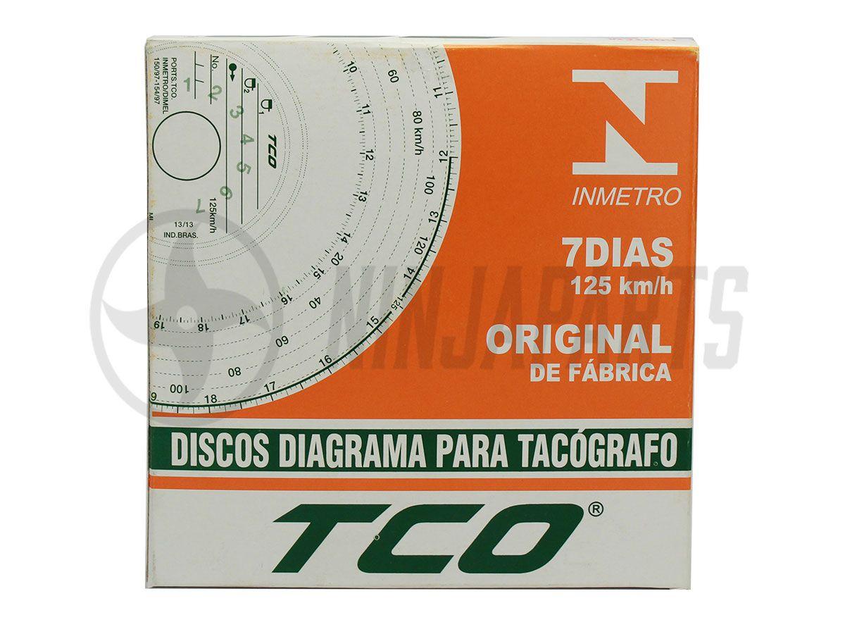DISCO PARA TACOGRAFO 7 DIAS TCO (125KM)