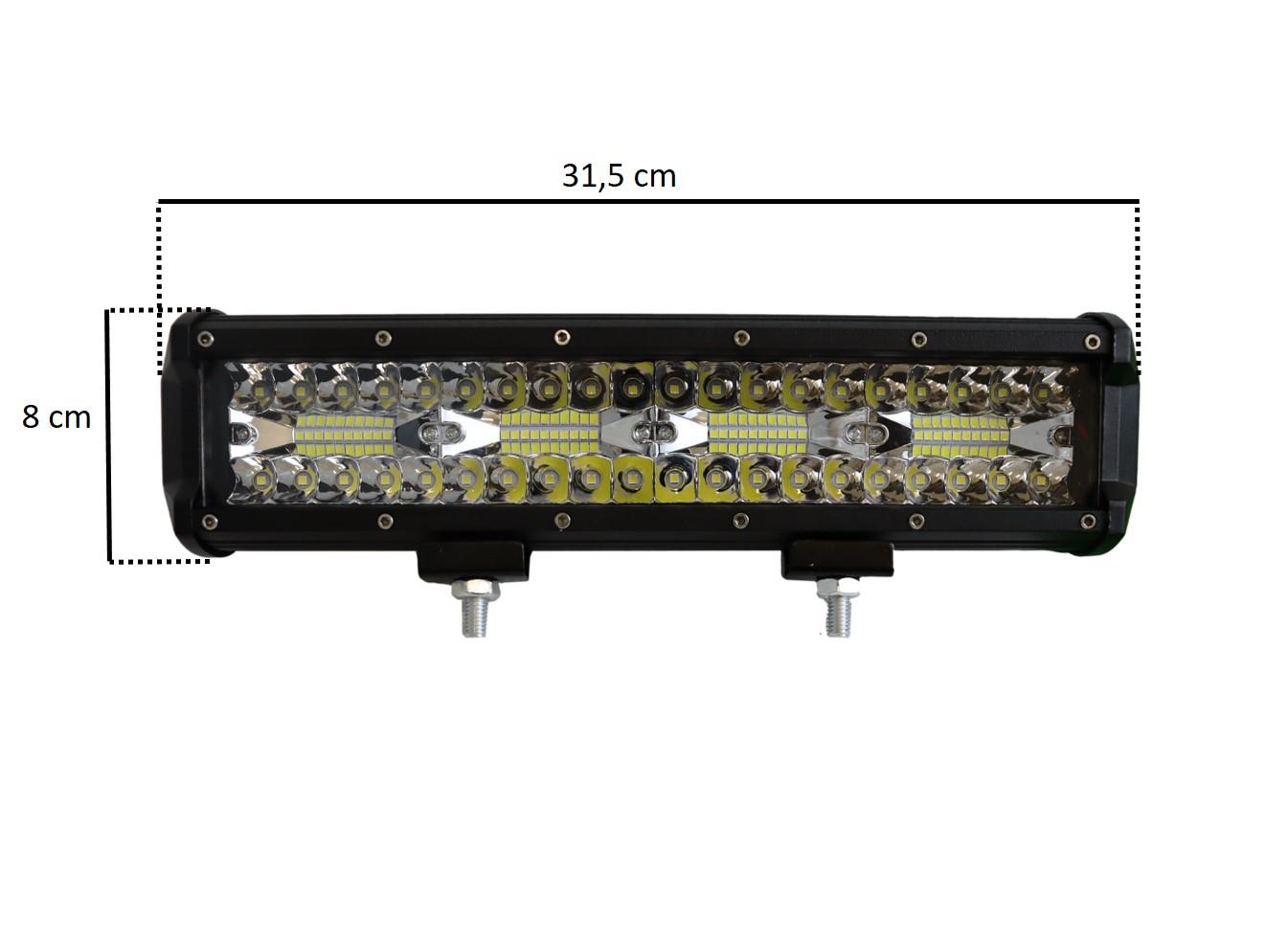 FAROL DE MILHA BARRA LED BIVOLT 240W 31cm