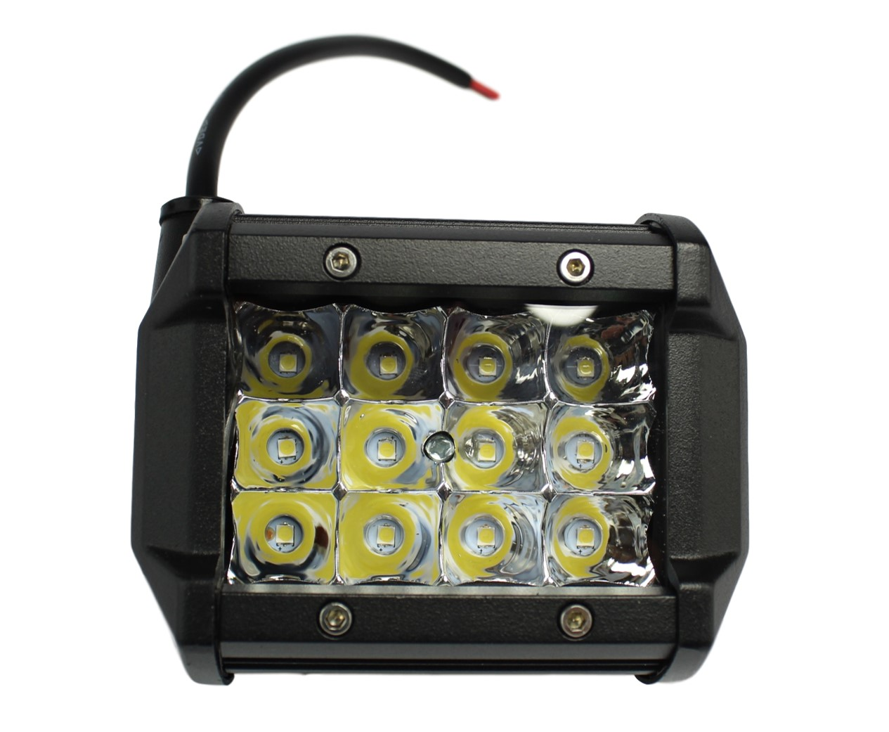 FAROL DE MILHA LED RETANGULAR 12 LEDS BIVOLT 36W UNIVERSAL