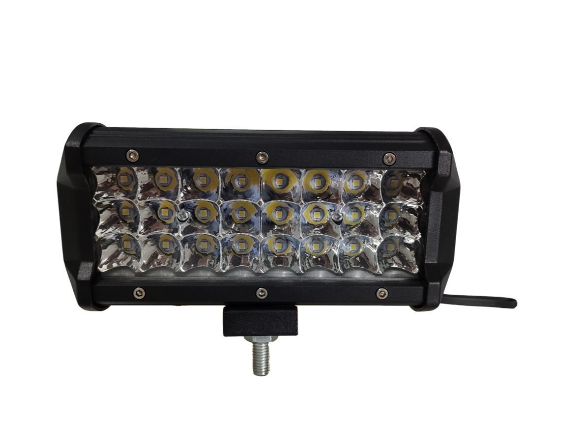 FAROL DE MILHA RETANGULAR 24 LEDS BIVOLT 72W