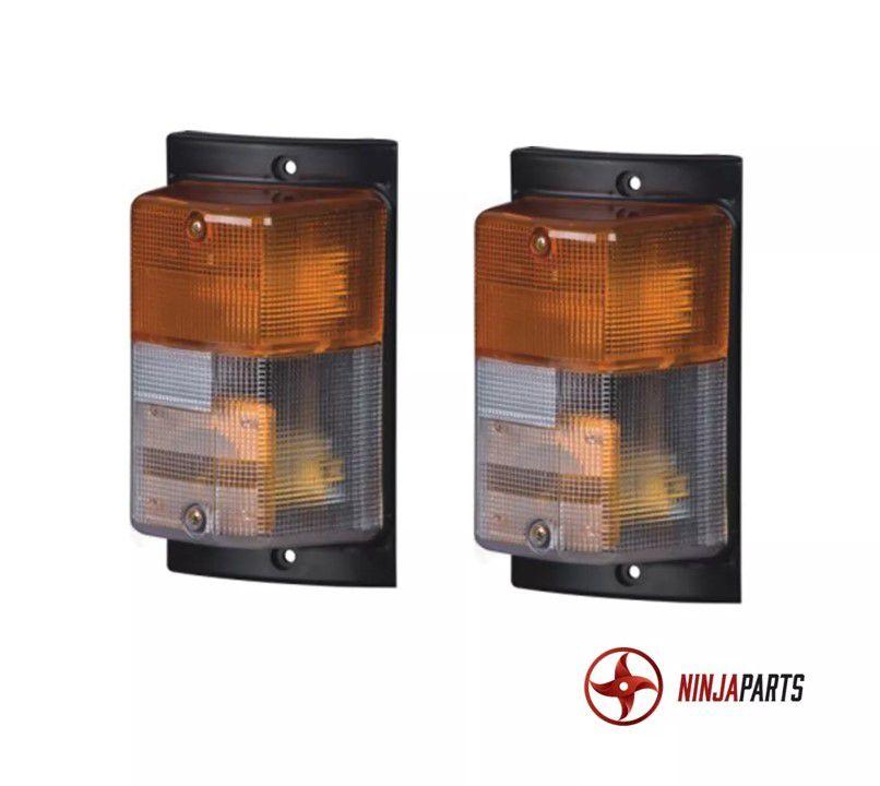 KIT 2 FAROIS + 4 FAROIS DE MILHA RETANGULARES LED + 2 PISCA FUME SCANIA 112 113