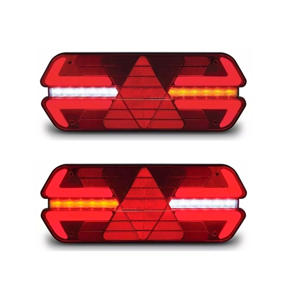PAR LANTERNA TRASEIRA LED TRIPLO X - PRADOLUX - 24V - VERMELHA