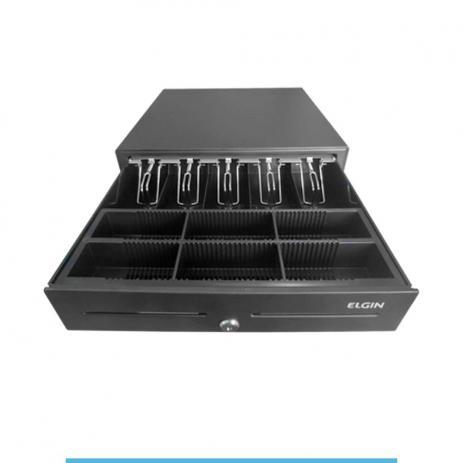 Gaveta de Dinheiro Automática ELGIN modelo EG60 conector RJ12  - Loja Campinas WCOM Soluções