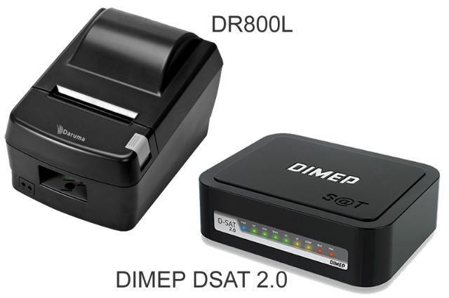 KIT SAT Dimep D-SAT 2.0 + impressora Daruma DR-800 L USB / SERRILHA   - Loja Campinas WCOM Soluções