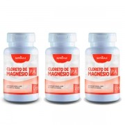 KIT 3 Potes Cloreto de Magnésio PA Total 360 Cápsulas 500mg Nutrivale Natural