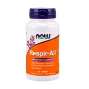 Respir-All - otimizador da respiração - NOW - 60 tabletes