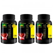 KIT 3 Potes Tribulus Terrestris 700 mg 63% de saponinas Total 450 Cápsulas Max Power Evolution