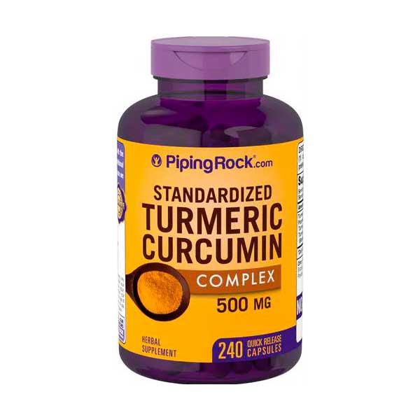 Curcuma Verdadeira - Turmeric Complex 500 mg com Bioperine. 240 Cáps -  Açafrão