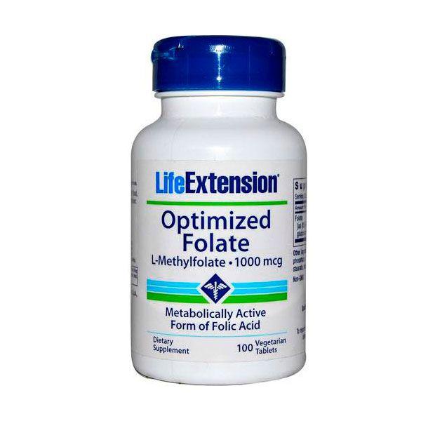 Folato - L-Metilfolato 1000 mcg. Importado com Alto nível de absorção.