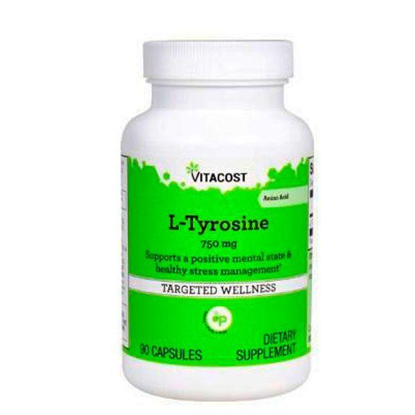 L-tirosina 750mg 90caps. Tyrosine.