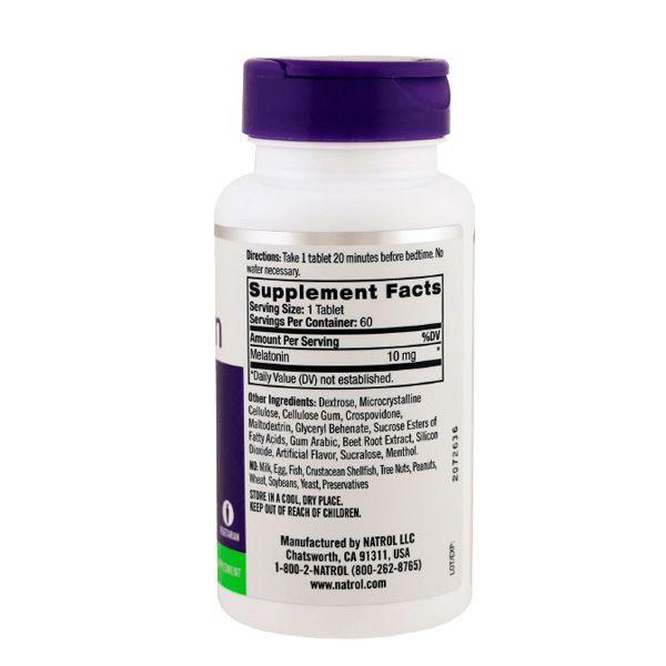 Melatonina 10mg  Fast Dissolve - delicioso sabor citrus 60 tabletes - Natrol.