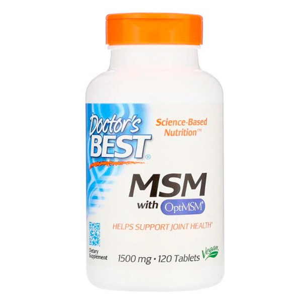 MSM  1.500 mg - 120 Tabs. Doctor Best U.S.A