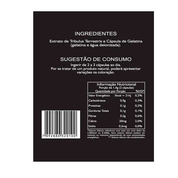 KIT 3 Potes Tribulus Terrestris 700 mg 63% de saponinas Total 450 Cápsulas Max Power Evolution