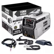 Inversora Solda SuperTork Touch 250T ITE 12250 220v Pulsado Trisolda AC-DC (TIG HF - TIG LIFT - MMA)