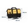 Bolsa em Lona para Ferramentas VONDER BL016 com 22 bolsos e divisões 400 x 200 x 300mm