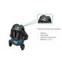 Nivel a Laser Giratorio WESCO 5 Linhas Verde WS8911