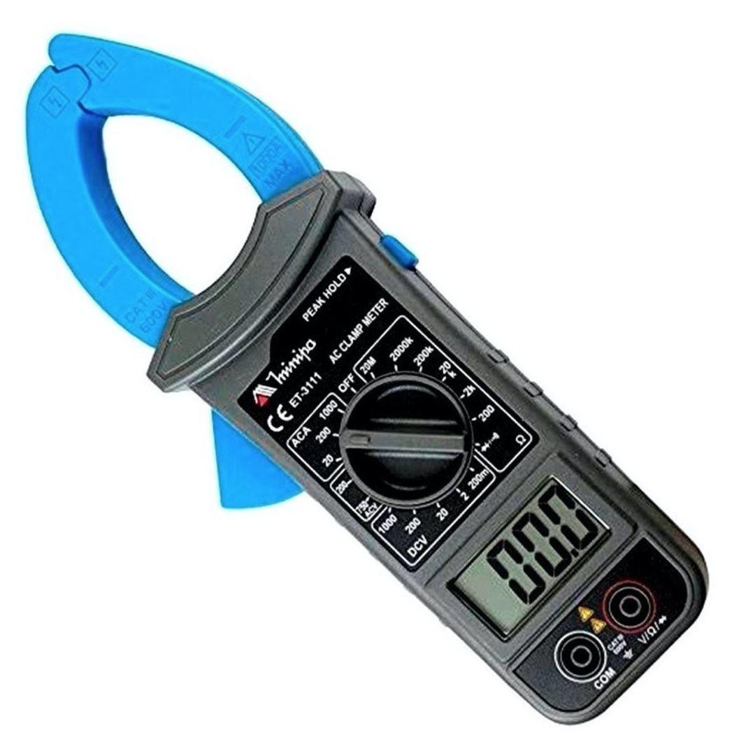 Alicate Amperímetro Digital 3.1/2 AC 1000A AC 750V Minipa ET-3111 CAT III