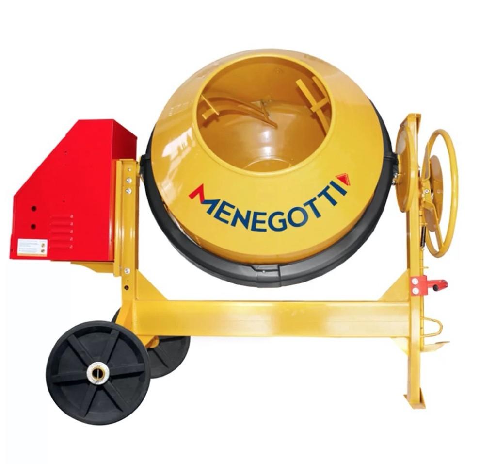 Betoneira Menegotti RENTAL 400 Litros com motor 2CV Monofásico