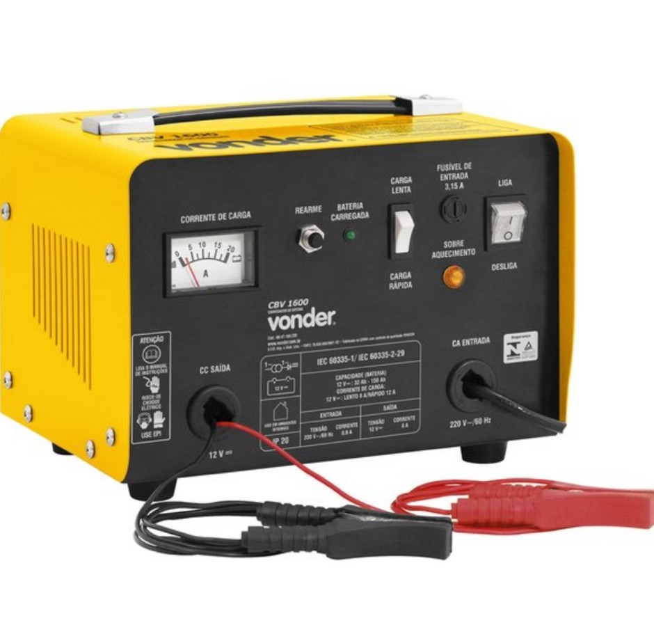 Carregador Bateria Vonder CBV1600