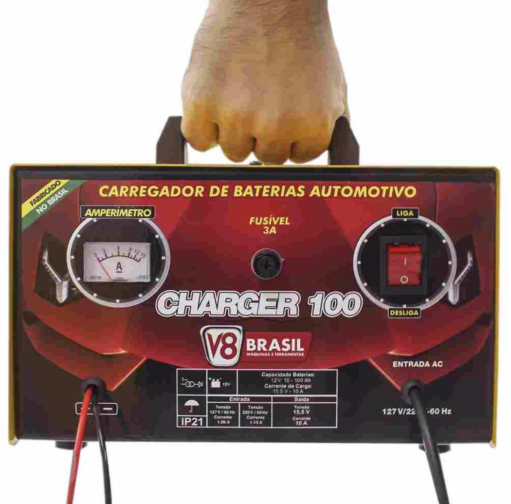 Carregador de Bateria V8 Brasil Charger 100