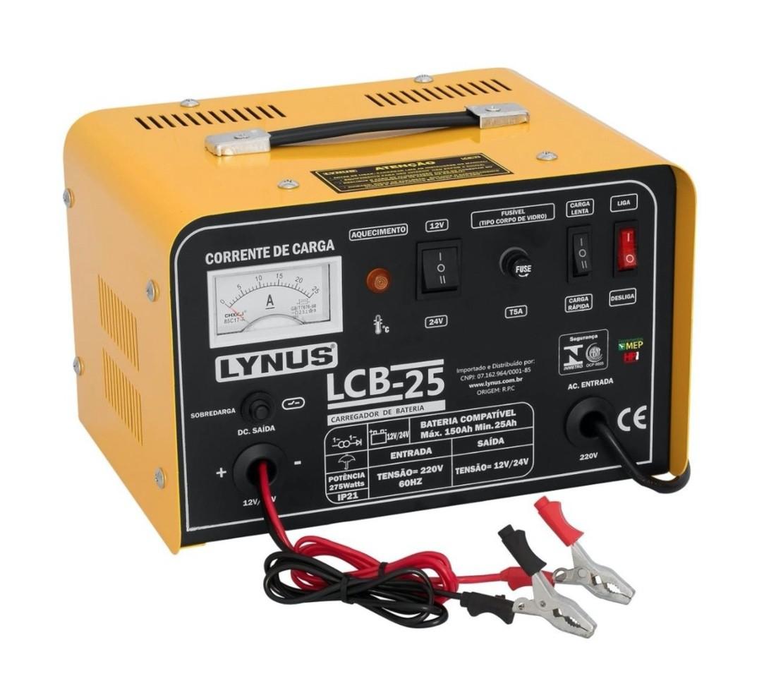 Carregador de Bateria Veicular LYNUS LCB-25 150A