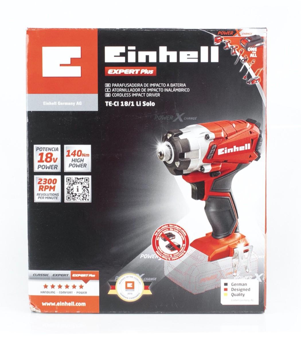 """Chave Impacto Bateria EINHELL 1/4"""" 140Nm 18v TE-CI 18/1 LI-SOLO (sem carregador e bateria)"""