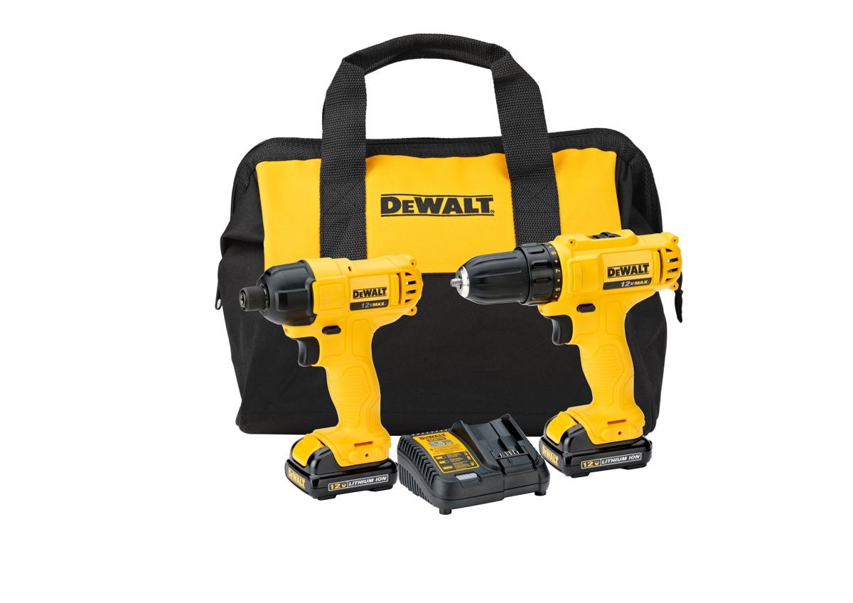 Combo Dewalt DCK199C2 = Furadeira DCD700 + Parafusadeira DCF805 + Bolsa + 02 baterias e carregador bivolt