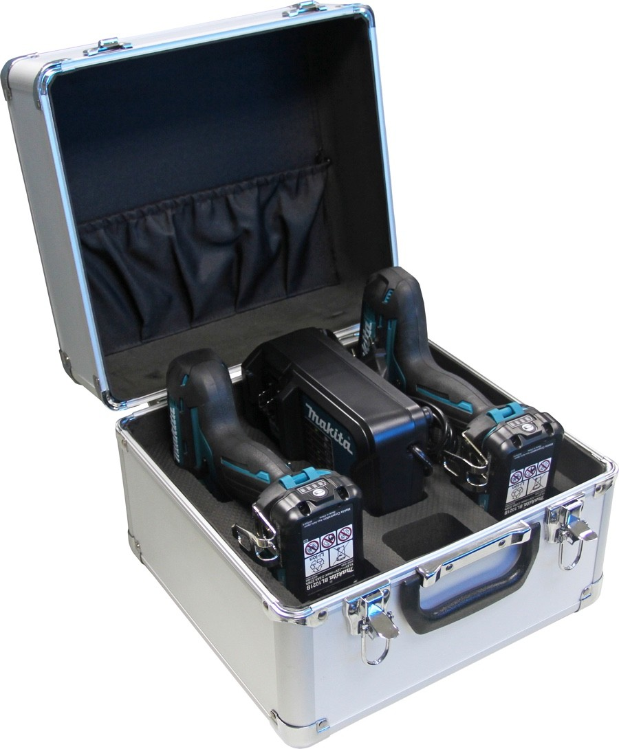 Combo Makita CLX201SAX = Furadeira DF331D + Parafusadeira Impacto TD110D + 02 Baterias 12v 2Ah + Carregador Rápido Bivolt + Maleta Metálica
