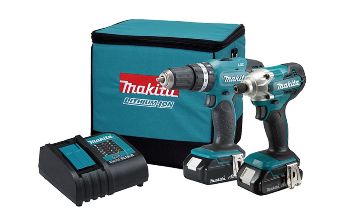 Combo Makita DLX2336SYX = Furadeira DHP453 + Parafusadeira DTD156 + 02 Baterias 18v 1.5Ah + Carregador Rápido Bivolt + Bolsa
