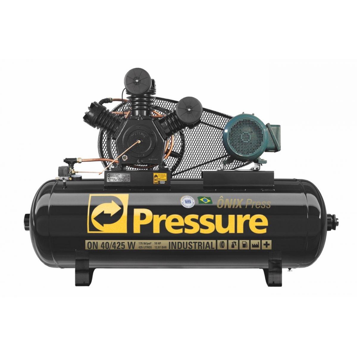 Compressor Ar Pressure Onix Press 40/425 com motor 10Hp Trifásico