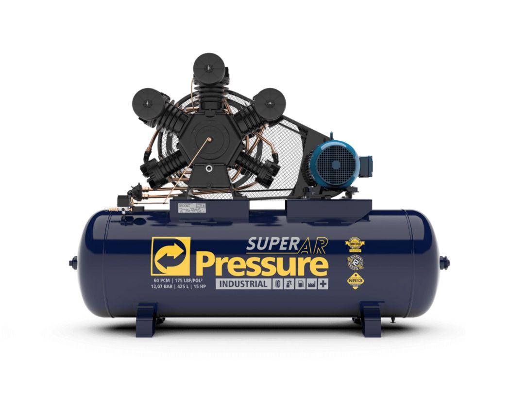 Compressor Ar Pressure Super AR 60/425W 175psi 425 litros 15Hp Trifásico