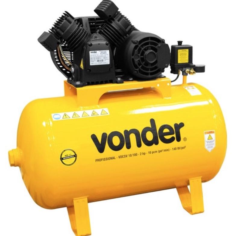 Compressor Ar VONDER VDCSV 10/100 Motor 2Hp Monofásico